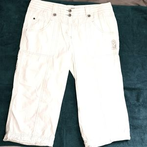Esprit Sports white capris board shorts